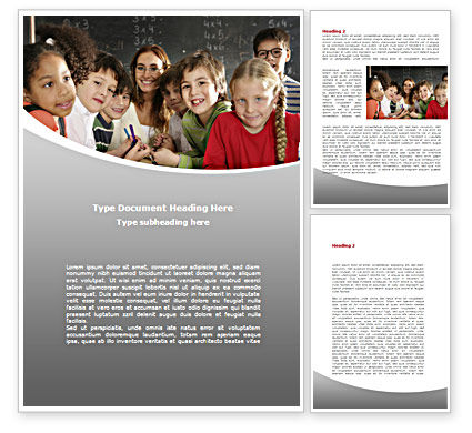 Education & Training: 主要形式Word模板 #08579