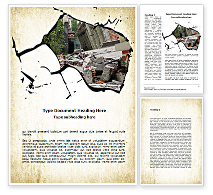 Building Destruction Word Template, 08587, Nature & Environment — PoweredTemplate.com