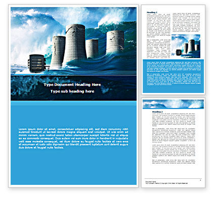 Natural Disaster Word Template, 08590, Nature & Environment — PoweredTemplate.com