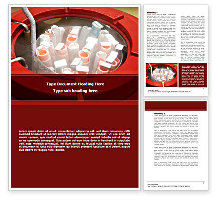 Pharmacological Produce Word Template, 08596, Medical — PoweredTemplate.com