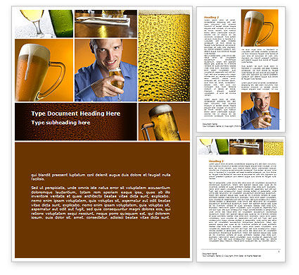 Beer Collage Word Template, 08604, Careers/Industry — PoweredTemplate.com