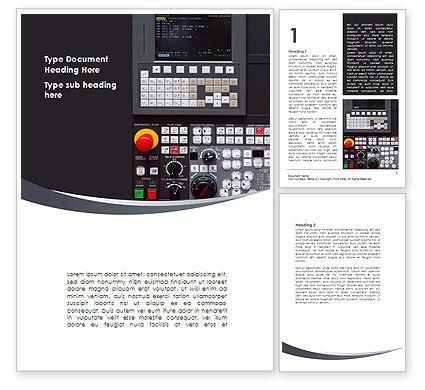 Universal CNC Lathe Word Template, 08605, Technology, Science & Computers — PoweredTemplate.com