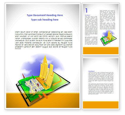 City Structure Word Template, 08609, Construction — PoweredTemplate.com