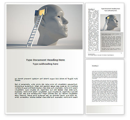 Window To Brain Word Template, 08610, Consulting — PoweredTemplate.com