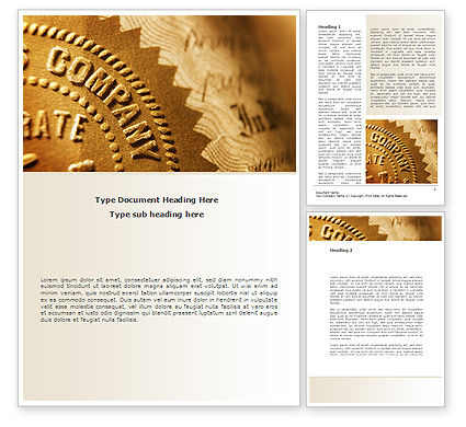 Embossed Seal Word Template, 08615, Legal — PoweredTemplate.com