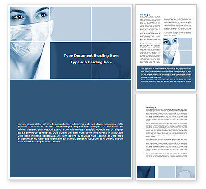 Medical: Medical Mask Word Template #08619