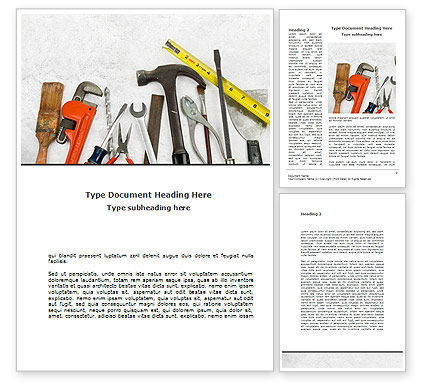 Utilities/Industrial: Repairing Tools Word Template #08626