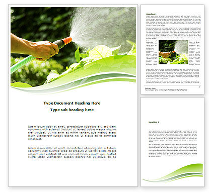 Agriculture and Animals: Horticulture Word Template #08642
