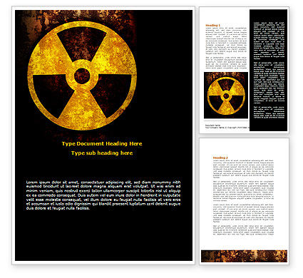 Radioactivity Word Template, 08649, Military — PoweredTemplate.com