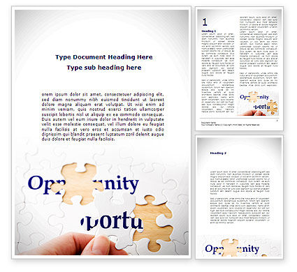 Opportunity Word Template, 08651, Consulting — PoweredTemplate.com