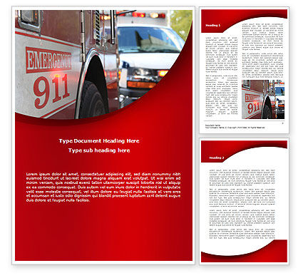 Emergency 911 Word Template