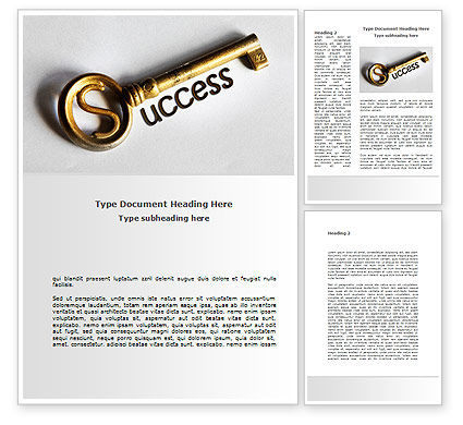 Key To Reach Success Word Template, 08657, Consulting — PoweredTemplate.com