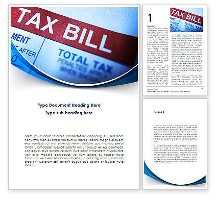 Tax Bill Word Template, 08661, Financial/Accounting — PoweredTemplate.com