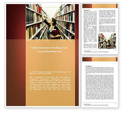 Bookshelves of Library Word Template