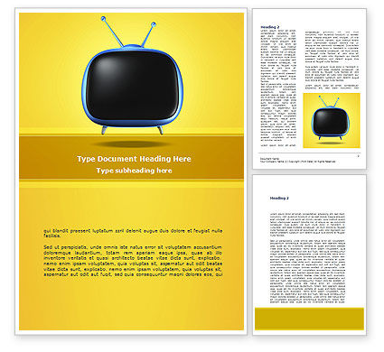 Careers/Industry: Analog Television Word Template #08671