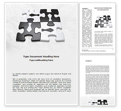 Business: Joint Efforts Word Template #08674