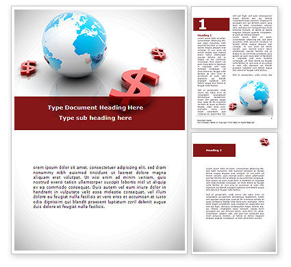 World Money Word Template, 08676, Financial/Accounting — PoweredTemplate.com