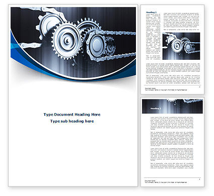 Integral Parts Word Template, 08681, Utilities/Industrial — PoweredTemplate.com