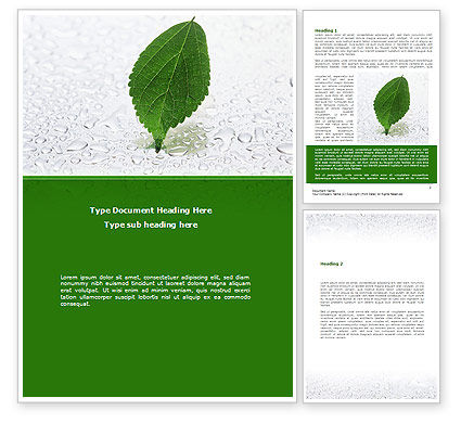 Hydroponics Word Template, 08683, Nature & Environment — PoweredTemplate.com