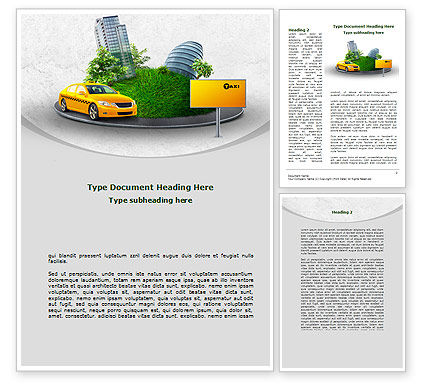 Metropolitan Taxi Word Template, 08691, Cars/Transportation — PoweredTemplate.com