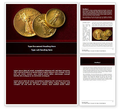 Golden Dollars Word Template, 08693, Flags/International — PoweredTemplate.com
