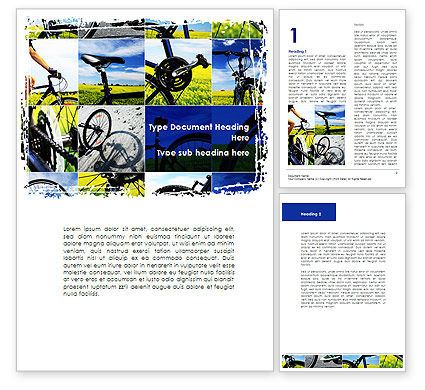 Summer Cyclist Tour Word Template, 08694, Sports — PoweredTemplate.com
