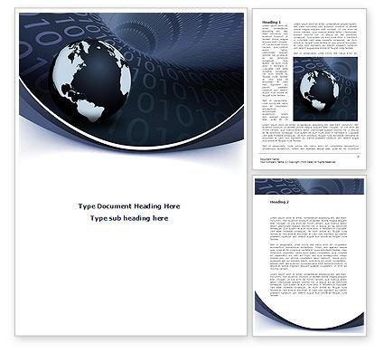 Global Data Links Word Template, 08703, Global — PoweredTemplate.com