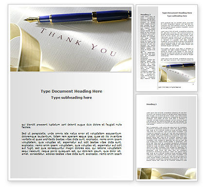 Business Etiquette Word Template, 08709, Business — PoweredTemplate.com