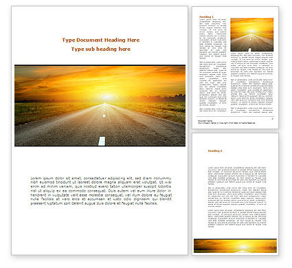 Construction: Sunset Way Word Template #08712
