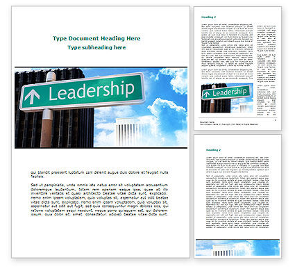 Consulting: Leadership Training Word Template #08714