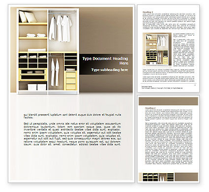 Modern Furniture Word Template, 08720, Careers/Industry — PoweredTemplate.com