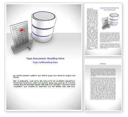 Technology, Science & Computers: Database Development Word Template #08722