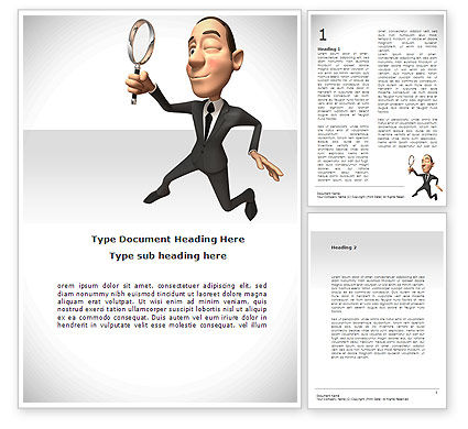 Consultant Word Template, 08723, Careers/Industry — PoweredTemplate.com