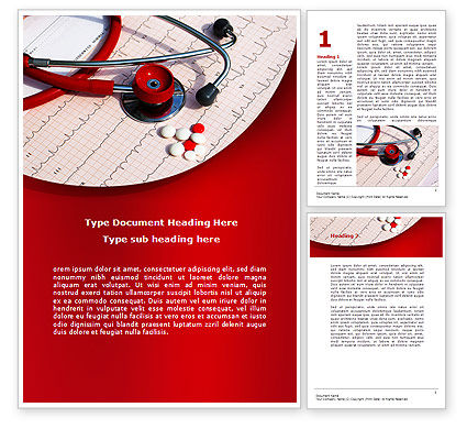 Cardiopharmacololgy Word Template, 08725, Medical — PoweredTemplate.com
