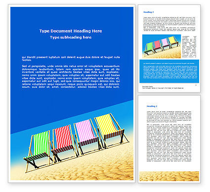 Lounge Beach Word Template, 08728, Careers/Industry — PoweredTemplate.com
