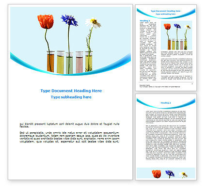 Modern Hydroponics Word Template, 08732, Technology, Science & Computers — PoweredTemplate.com