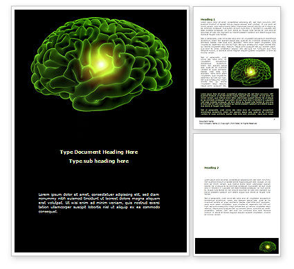 Medical: Human Brain Word Template #08734