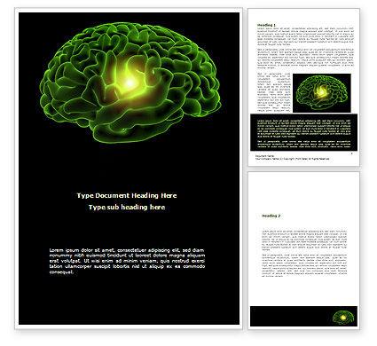 Medical: Modelo do Word - cérebro humano #08734