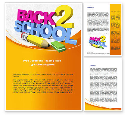 Education & Training: Back 2 School Word Template #08735