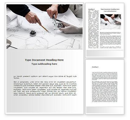 Mechanical Engineering Word Template, 08738, Business — PoweredTemplate.com