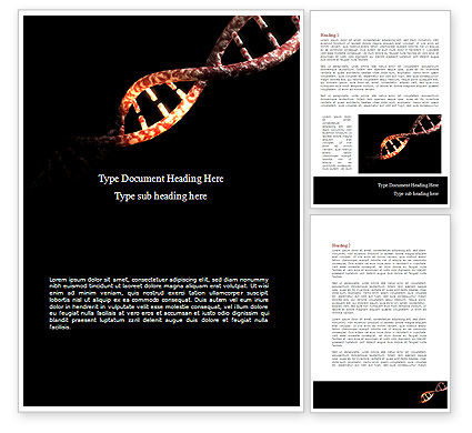 Technology, Science & Computers: Dna Dubbele Spiraal Word Template #08741