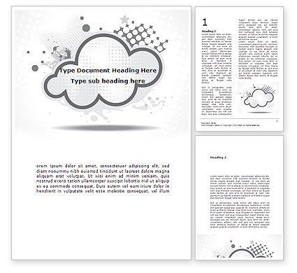Abstract/Textures: Modèle Word de nuage stylisé #08746