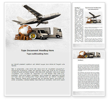 Cars/Transportation: Shipping Service Word Template #08751