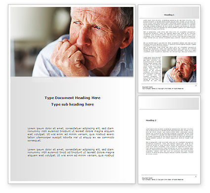 People: Old Man Word Template #08757