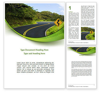 Construction: Long And Winding Road Word Template #08761