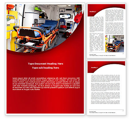 Reanimobile Word Template, 08762, Medical — PoweredTemplate.com