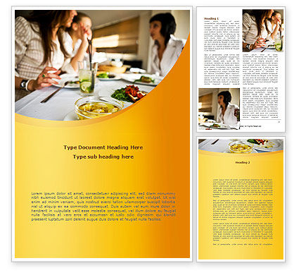 Friendly Meeting Word Template, 08780, People — PoweredTemplate.com