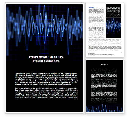 Oscillography Word Template, 08787, Technology, Science & Computers — PoweredTemplate.com