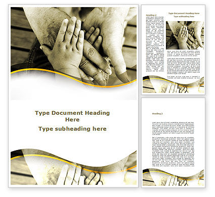 Family Ties Word Template, 08796, Religious/Spiritual — PoweredTemplate.com
