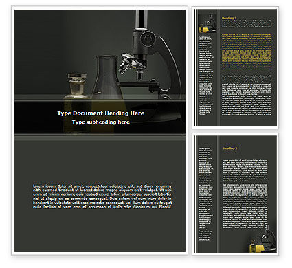 Microscope Researches Word Template, 08800, Technology, Science & Computers — PoweredTemplate.com